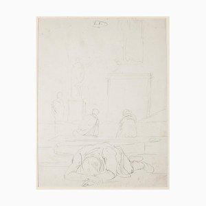 Scenography Original Pencil on Paper by E. Berman