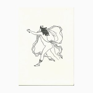 Apollo Pursuing Daphne Original Lithograph by Aubrey Vincent Beardsley, 1970s