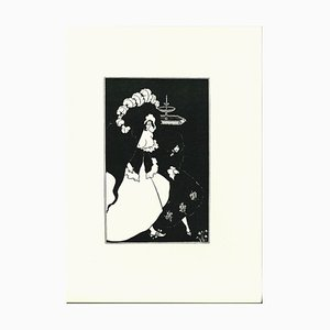 Messalina and Her Companion Original Lithograph by Aubrey Vincent Beardsley, 1970s