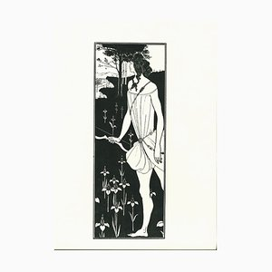 Atalanta Lithograph by Aubrey Vincent Beardsley, 1970s