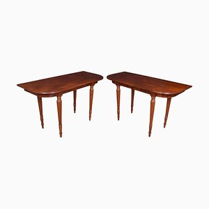 Antique Mahogany Hall Tables, Set of 2