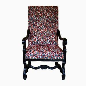 Large Vintage Armchair with Handmade Cushion