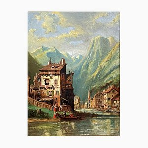 Switzerland School Painting, The Return of the Boat