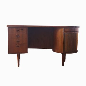 Model 54 Writing Desk with Bar Compartment from Feldballes Møbelfabrik, 1953
