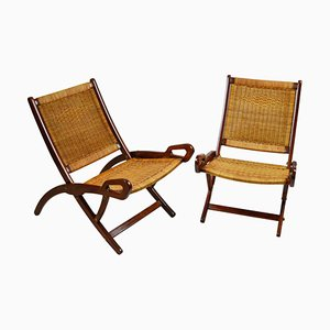 Water Lily Folding Chairs by Gio Ponti for Fratelli Reguitti, 1950s, Set of 2
