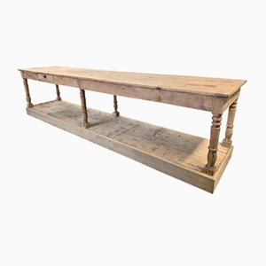Antique Oak Worktable
