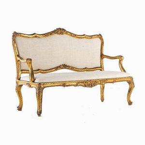 18th-Century Italian Gilt Sofa
