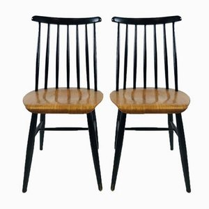Vintage Swedish Teak Spindle Back Dining Chairs by Ilmari Tapiovaara for Pastoe, 1960s, Set of 2