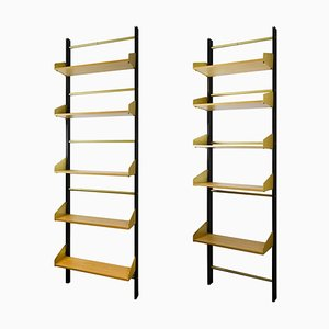Shelves with Metal Uprights from FEAL, 1960s, Set of 2