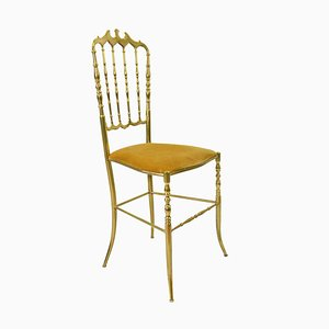 Italian Brass Side Chair, 1960s