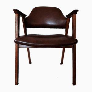 Armlehnstuhl aus Teak & Kunstleder von Jaime Casadesus für Guilleumas, 1960er