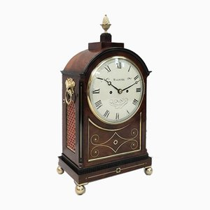 English George IV Mahogany Bracket Clock from Warwick, 1820s