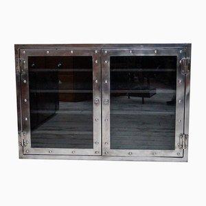 Vintage Polished Steel Medicine Cabinet