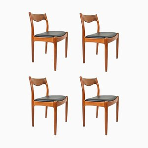 Dining Chairs by Juul Kristensen, 1960s, Set of 4