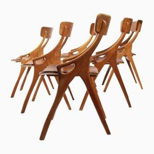 Dining Chairs by Arne Hovmand-Olsen for Mogens Kold, 1950s, Set of 6