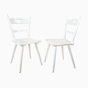 Mid-Century Wooden Side Chairs, Set of 2