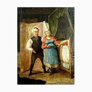 Nordic School Painting eines Paares