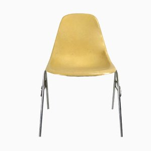 Vintage Light Ochre DSS Fibreglass Side Chair by Charles and Ray Eames for Vitra