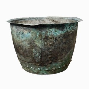 Caldero victoriano temprano de cobre