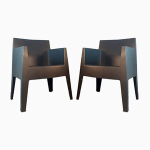 Black Polypropylene Model Toy Lounge Chairs by Philippe Starck for Driade, 2000s, Set of 2