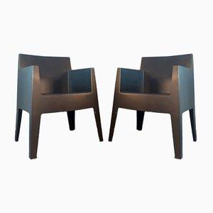 Schwarze Polypropylen Modell Toy Sessel von Philippe Starck für Driade, 2000er, 2er Set