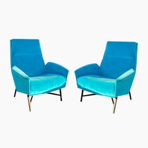 Mid-Century Lounge Chairs by Claude Delor, Set of 2