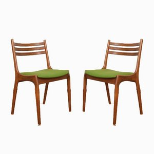 Mid-Century Danish Teak Dining Chairs by Henning Kjærnulf for Korup Stolefabrik, 1960s, Set of 2