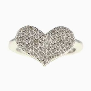 Heart Ring with White Gold and Diamonds, 2000s