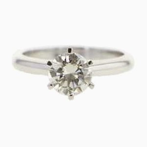 Goldener Solitaire Ring mit Diamanten, 2000er