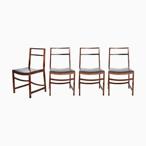 Mid-Century Rosewood Dining Chairs by Renato Venturi for MIM, Set of 4