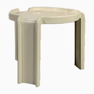 White Side Table by Giotto Stoppino for Kartell, 1970s