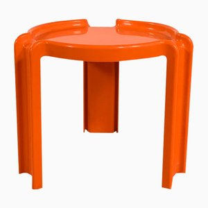 Orange Side Table by Giotto Wick for Kartell, 1970s