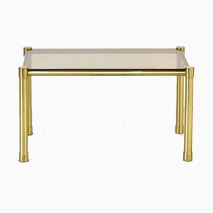 Tubular Brass and Smoked Glass Coffee Table, 1960s