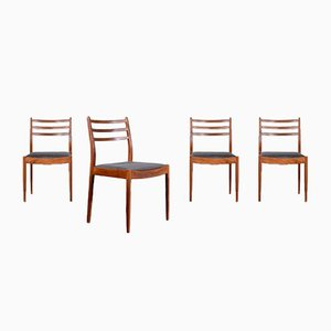 Teak and Leatherette Chairs from G plan, 1960s, Set of 4