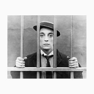 Buster Keaton Archival Pigment Print Framed in White from Galerie Prints