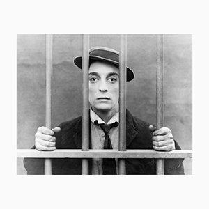 Buster Keaton Archivdruck in Weiß von Galerie Prints