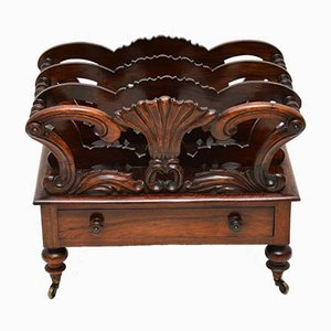 Antique Rosewood Magazine Rack