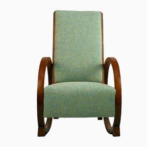 Rocking Chair en Chêne, 1930s