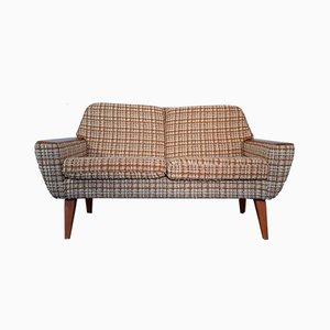 Norwegian Two-Seater Sofa in Teak Wood and Beige Wool, 1960s