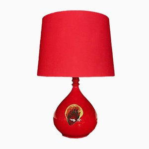 Glazed Ceramic Table Lamp by Bjorn Wiinblad for Rosenthal, 1960s
