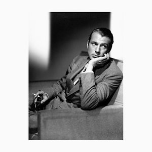 Gary Cooper Archival Pigment Print Framed in White from Galerie Prints