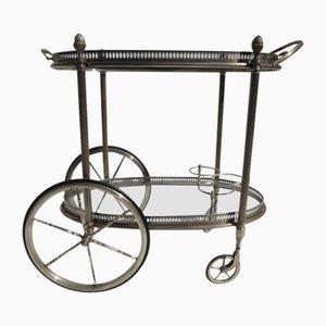 Chariot Néoclassique Plaqué Argent Mid-Century de Maison Jansen
