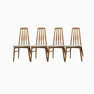 Teak Eve Dining Chairs by Niels Koefoed for Koefoeds Hornslet, 1960s, Set of 4