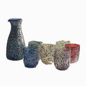 Murano Drinking Glasses by Mariana Iskra for Ribes Atelier, 2000s, Set of 7