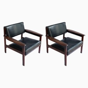 Modern Drummond Armchairs by Sergio Rodrigues, 1950s, Set of 2