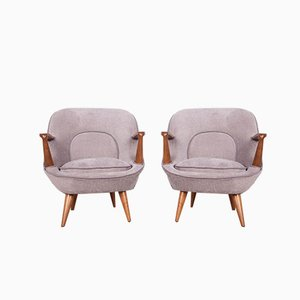Model 345 Armchairs by J. Jędrychowicz & K. Racinowski for Poznan Furniture Factory, 1950s, Set of 2