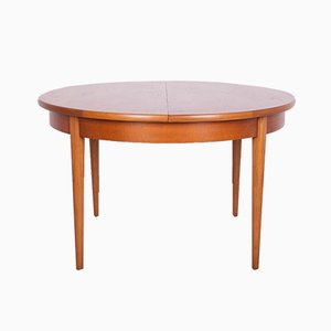 Mid-Century Round Teak Extendable Dining Table, 1960s