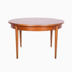 Mid-Century Round Teak Extendable Dining Table, 1960s
