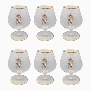 Mid-Century Napoleon Model 6 Cognac Glasses in Crystal from Baccarat, Set of 6