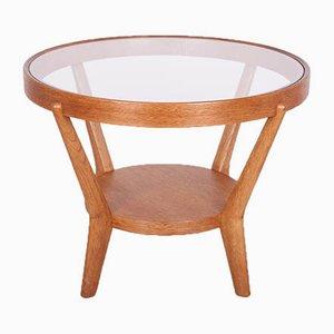 Oak & Glass Coffee Table by Karel Kozelka & Antonin Kropacek for Interier Praha, 1920s